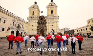 Consejo Consultivo del Niño, Niña y Adolescente de Lima metropolitana interpreta la canción «porque yo creo en ti» en lengua de señas