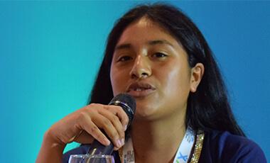 Participando en el III Foro Panamericano de niñas, niños y adolescentes