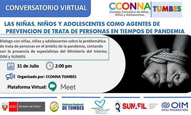 Primer Conversatorio virtual del CCONNA Región Tumbes